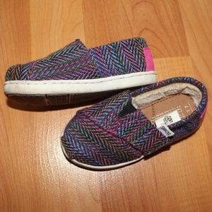 Toms Classic Tiny Herringbone Faux Fur Lined Shoes